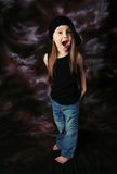 Gorgeous preschool girl Stock Photos