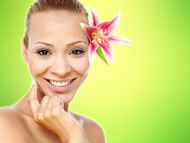 Gorgeous pretty spa woman Royalty Free Stock Images