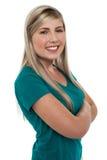 Gorgeous pretty teen posing confidently Stock Photo