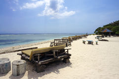 Gorgeous pristine coast of Gili Trawangan Stock Images