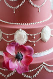 Gorgeous purple wedding cake Royalty Free Stock Photo