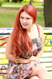 Gorgeous red haired girl Royalty Free Stock Image