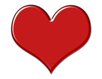 Gorgeous Red Heart. Red beveled heart on white background royalty free illustration