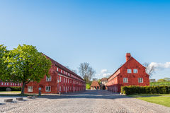 Gorgeous Red Kastellet in Copenhagen Royalty Free Stock Image