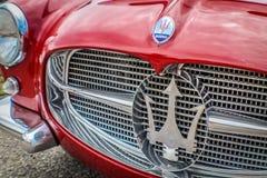 Classy red Maserati royalty free stock photos