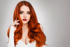 Gorgeous redhead girl Royalty Free Stock Image