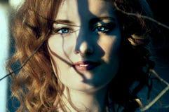 Gorgeous redhead with transparent eyes Stock Photos