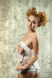 Gorgeous redhead woman Stock Photo
