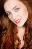Gorgeous redhead young woman Royalty Free Stock Photography