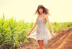 Gorgeous Romantic Girl Outdoors. Summer Lifestyle Stock Image