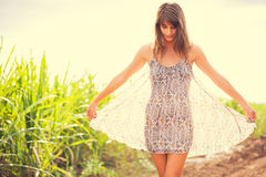 Gorgeous Romantic Girl Outdoors. Summer Lifestyle Royalty Free Stock Images
