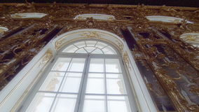 Gorgeous rooms and interiors of the Catherine Palace in St. Petersburg. Pushkin. Tsarskoye Selo stock video