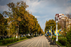 Gorgeous Samara embankment autumn stock image