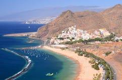 Gorgeous San Andres village and Teresitas beach on Tenerife Royalty Free Stock Photos