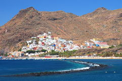 Gorgeous San Andres village and Teresitas beach on Tenerife Royalty Free Stock Photo