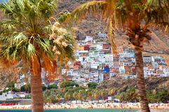 Gorgeous San Andres village and Teresitas beach on Tenerife Royalty Free Stock Image
