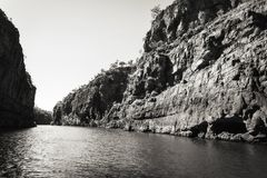 Katherine River Gorge in black and white Stock Photo