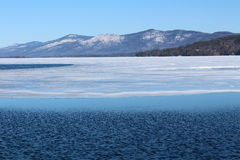 Scenic view of icy waters Stock Photography