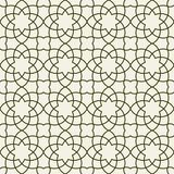 Gorgeous Seamless Arabic Pattern Design. Monochrome Wallpaper or Background Royalty Free Stock Photography