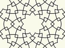 Gorgeous Seamless Arabic Pattern Design. Monochrome Wallpaper or Background Stock Photo