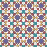 Gorgeous Seamless Arabic Tile Pattern Design. Islamic Wallpaper or Background Stock Images