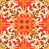 Gorgeous seamless patchwork pattern from blue Moroccan tiles, ornaments. Stock Photos