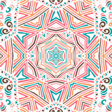 Gorgeous seamless patchwork pattern Royalty Free Stock Images