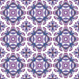 Gorgeous seamless patchwork pattern from colorful Moroccan tiles, ornaments. Royalty Free Stock Image