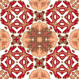 Gorgeous seamless patchwork pattern from colorful Moroccan tiles, ornaments. Can be used for wallpaper, pattern fills. Web page background,surface textures Stock Images