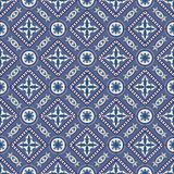 Gorgeous seamless patchwork pattern from dark blue and white Moroccan, Portuguese  tiles, Azulejo, ornaments. ace textures. Royalty Free Stock Images