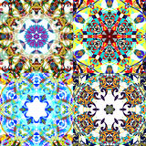 Gorgeous seamless patchwork patterns. Royalty Free Stock Photo