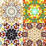 Gorgeous seamless patchwork patterns. Royalty Free Stock Photos
