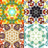 Gorgeous seamless patchwork patterns. Royalty Free Stock Image