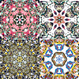 Gorgeous seamless patchwork patterns. Stock Image