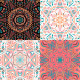 Gorgeous seamless patchwork patterns Royalty Free Stock Photography