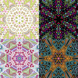 Gorgeous seamless patchwork patterns Stock Photos