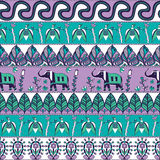 Gorgeous seamless pattern in the bohemian style Royalty Free Stock Images