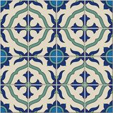 Gorgeous seamless  pattern from colorful floral Moroccan, Portuguese  tiles, Azulejo, ornaments. Stock Images