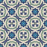 Gorgeous seamless  pattern from colorful floral Moroccan, Portuguese  tiles, Azulejo, ornaments. Stock Photo