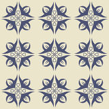 Gorgeous seamless  pattern from dark blue and white floral ornaments. Gorgeous seamless  pattern from dark blue and white floral Turkish, Moroccan, Portuguese Stock Images