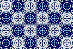 Gorgeous seamless pattern from dark blue and white Moroccan, Portuguese tiles, Azulejo, ornaments. Can be used for. Wallpaper, pattern fills, web page Royalty Free Stock Photography