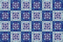 Gorgeous seamless pattern from dark blue and white Moroccan, Portuguese tiles, Azulejo, ornaments. Can be used for. Wallpaper, pattern fills, web page Royalty Free Stock Image