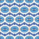 Gorgeous seamless  pattern from dark blue and white Moroccan, Portuguese  tiles, Azulejo, ornaments. Stock Photography
