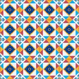 Gorgeous seamless  pattern from Moroccan, Portuguese  tiles, Azulejo, ornaments. Stock Images