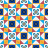 Gorgeous seamless  pattern from Moroccan, Portuguese  tiles, Azulejo, ornaments. Royalty Free Stock Photography