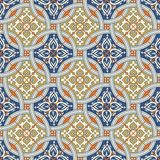 Gorgeous seamless  pattern from Moroccan, Portuguese  tiles, Azulejo, ornaments. Royalty Free Stock Image