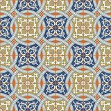 Gorgeous seamless  pattern from Moroccan, Portuguese  tiles, Azulejo, ornaments. Stock Image