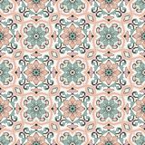 Gorgeous seamless pattern Moroccan, Portuguese tiles, Azulejo, ornaments. Can be used for wallpaper, pattern fills, web. Page background,surface textures Stock Photo
