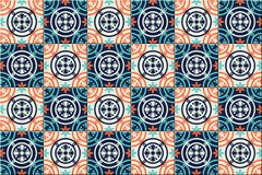 Gorgeous seamless pattern Moroccan, Portuguese tiles, Azulejo, ornaments. Can be used for wallpaper, pattern fills, web. Page background,surface textures Stock Photos