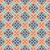 Gorgeous seamless pattern Moroccan, Portuguese tiles, Azulejo, ornaments. Can be used for wallpaper, pattern fills, web. Page background,surface textures Royalty Free Stock Photography
